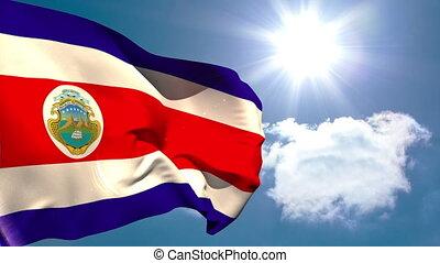 costa rica, onduler, drapeau national