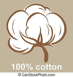 coton, icône