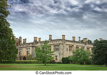 cotswold, anglaise, angleterre, château