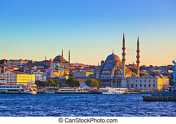 coucher soleil, istanbul
