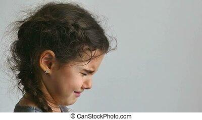 couler, girl, pleurer, adolescent, larmes, dépression