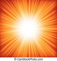 couleur, 8, orange, burst., -, eps, conception, rouges