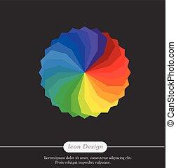 couleur, arc-en-ciel, palette, vecteur