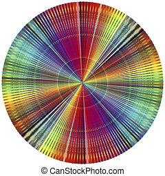 couleur, arc-en-ciel, roue