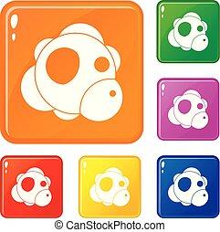 couleur, atome, vecteur, ensemble, icônes