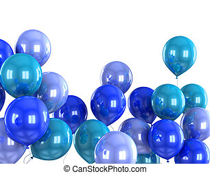 couleur, balloon, hélium, 3d