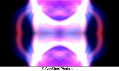 couleur, bannière, laser, flamme, lumière, néon