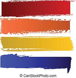 couleur, bannières, vecteur, ensemble