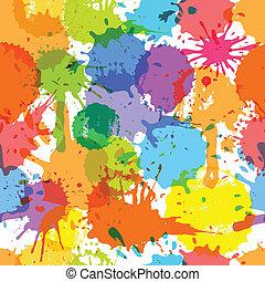 couleur, blots, seamless, fond, encre