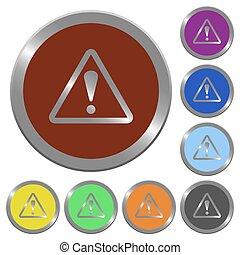 couleur, boutons, avertissement