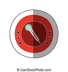 couleur, cadre, milieu, thermomètre, ombre, autocollant, circulaire