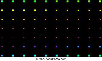 couleur, carrée, seamless, néon, boucle, lumière, fond