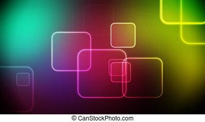 couleur, carrés, boucle