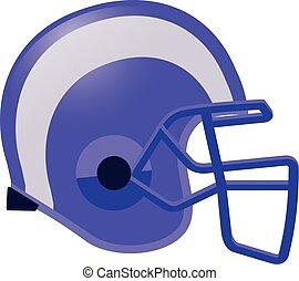 couleur, casque, football, violet