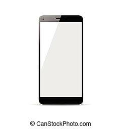 couleur, cellphone, noir, illustration