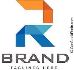 couleur, créatif, r, lettre, logo, mosaïque