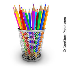 couleur, crayons, support
