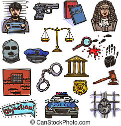 couleur, croquis, droit & loi, icône