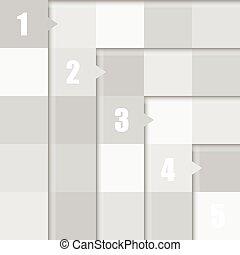 couleur, cube, gris, illustration, nombre