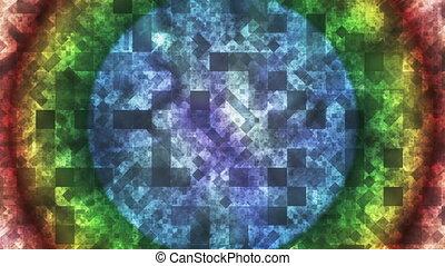 couleur diamant, résumé, scintillement, high-tech, boucle, multi, carré, motifs, lumière, hd