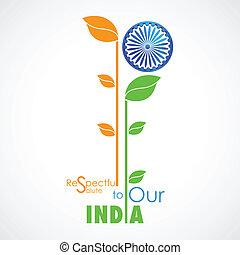 couleur, drapeau, indien, plante