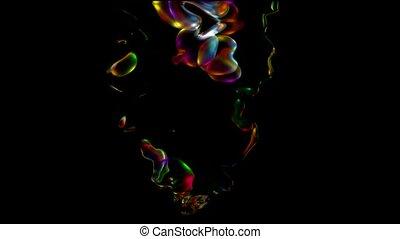 couleur eau, goutte, éclaboussure, liquide