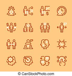 couleur, ensemble, collaboration, icônes