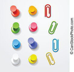 couleur, epingles, clips, collection