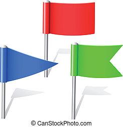 couleur, epingles, drapeau