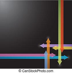 couleur, flèches, conception, illustration