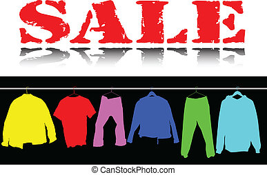 couleur, habillement, vente, illustration