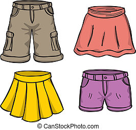 couleur, jupes, pantalon