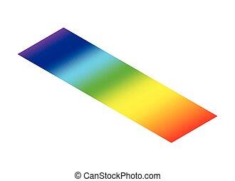 couleur, ligne, prisme, longueur onde, spectre, isométrique, radiation, visible, électromagnétique, lumière