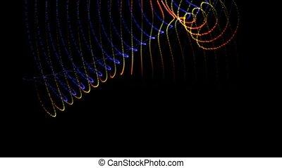 couleur, lumière, animation, lignes