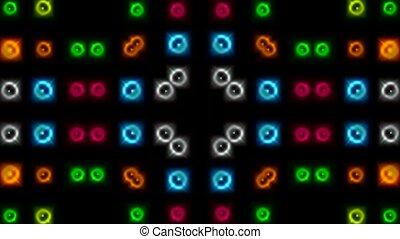 couleur, lumière, néon, fond, disco
