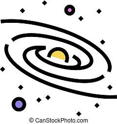 couleur, manière, laiteux, icône, galaxie, vecteur, illustration
