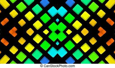 couleur, matrice, disco, mosaïques, lumière