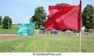 couleur, mouche, drapeau, gens