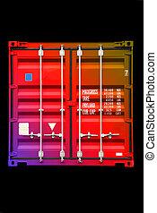 couleur, multicolore, 01, récipient