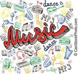 couleur, musique, fond