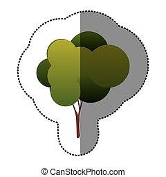 couleur, naturel, arbre, icône