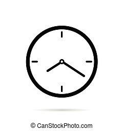 couleur, noir, illustration, horloge
