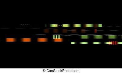 couleur, noir, jeûne, vitesse, carrés, seamless, boucle, fond