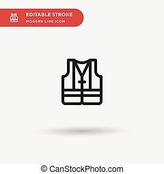 couleur, parfait, symbole, gilet, moderne, toile, stroke., ui, projet, simple, conception, icônes, illustration, icon., business, ton, element., mobile, editable, gabarit, vecteur, pictogramme