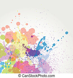 couleur, peinture, vecteur, eclabousse