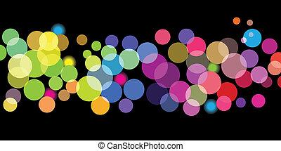 couleur, points, clair, modèle