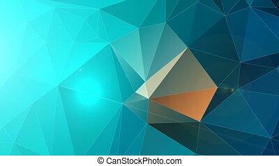 couleur, polygonal, cyan, résumé, fond, bleu
