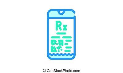 couleur, prescription, électronique, animation, icône