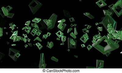 couleur, résumé, carrés, vert