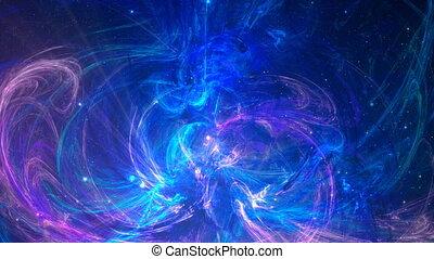 couleur, résumé, fond, fractal, bleu, violet